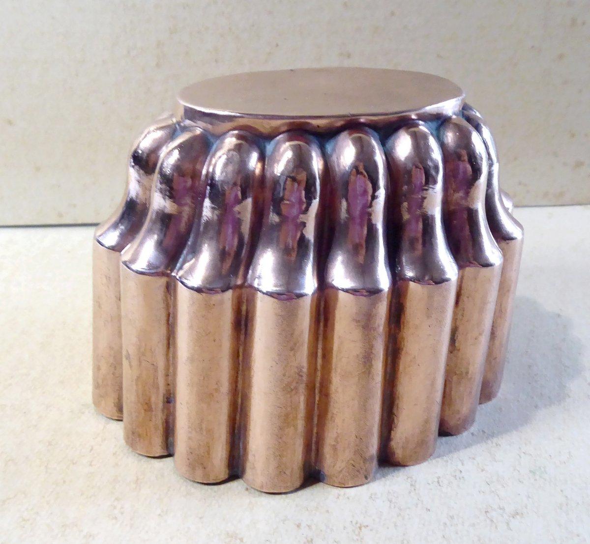 Napoleon III Oval Copper Mold, Very Nice Shape-photo-3