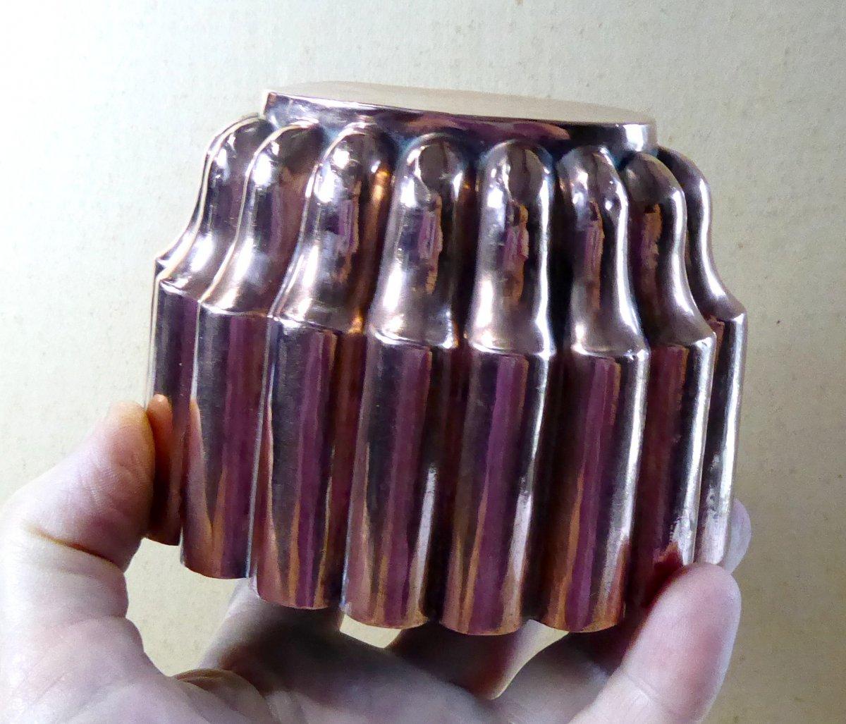 Napoleon III Oval Copper Mold, Very Nice Shape-photo-1