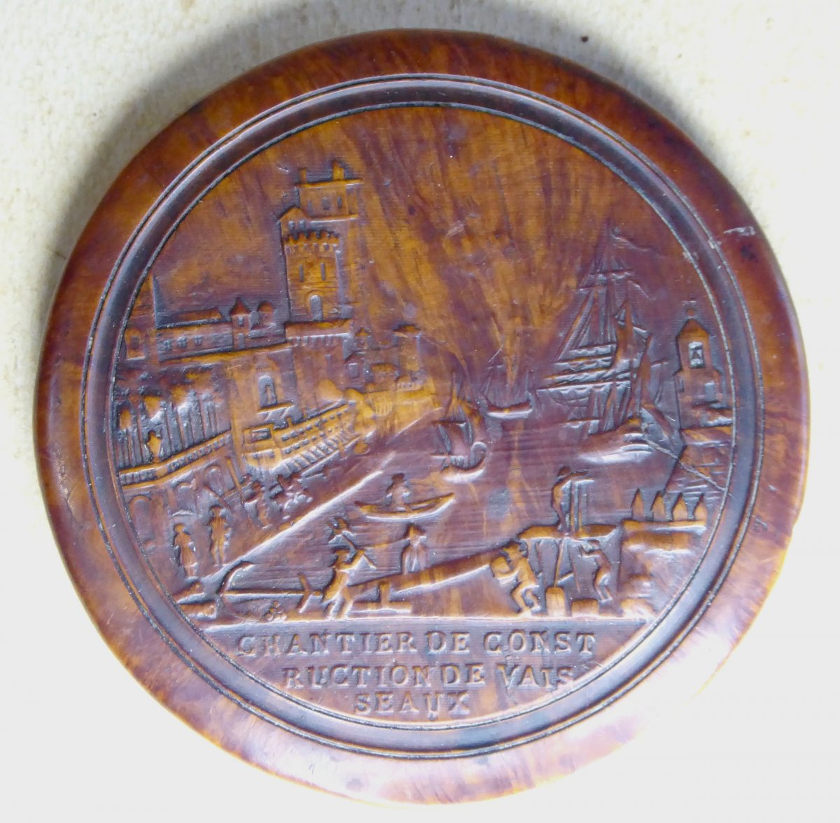 La Rochelle, fin XVIIIe, Tabatière du Chantier Naval, Bois compressé
