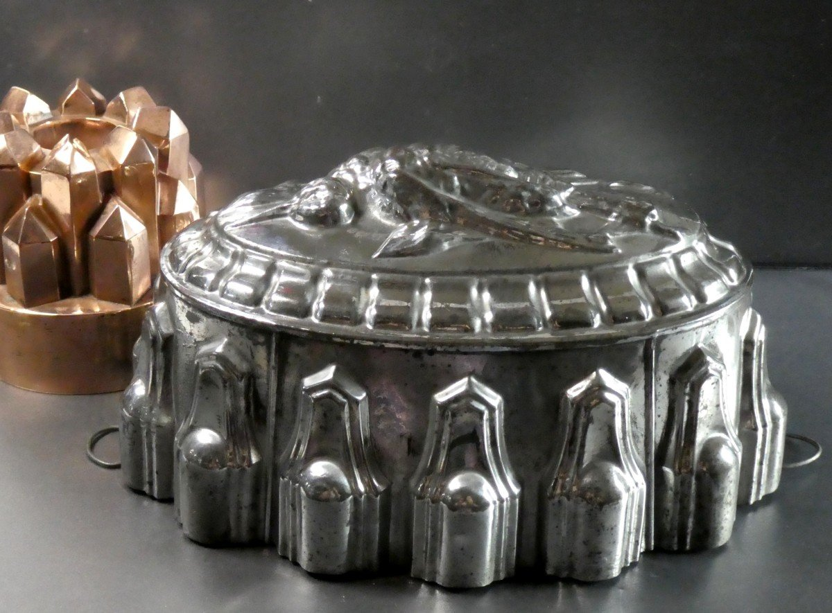 Terrine Of Thrushes, Large Model, Tin Mold Late 19th Century