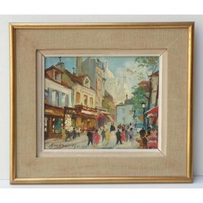 Merio Ameglio, Petite Huile Sur Toile: Montmartre, 1955