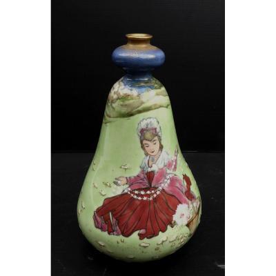 Salon De Paris, Année 1900, Vase Amphora Rsk, Signé, Situé