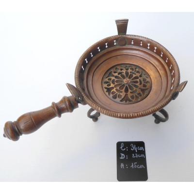 Réchaud De Table Sur Pieds Bronze, Cuivre Ajouré,  XVIIIe