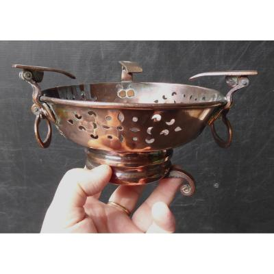 Small Embers Stove, Copper, 18thc, With Lis Flowers.
