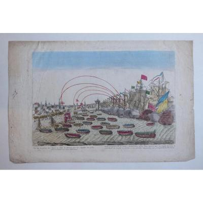 Vue De La Prise Des Forts Et Ville De Havane Par Les Anglois En 1762,