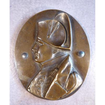 Profil Ovale En Bronze De l'Empereur Napoléon Ier, David d'Angers....