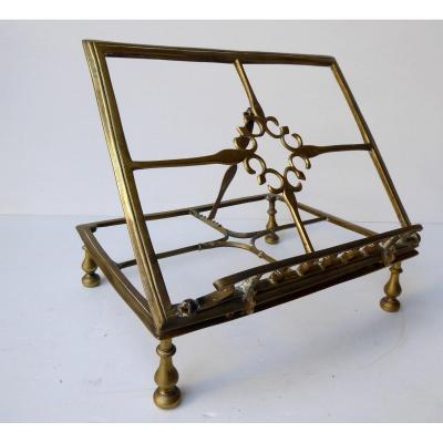 Lutrin De Table, Tout En Bronze Ajouré, XVIIIe Siècle