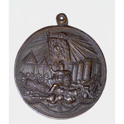 French Revolution : Bronze Medal: Demolition Of The Bastille, 1789