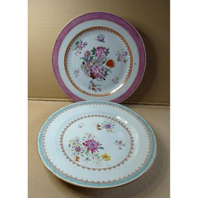 Two Chinese Export Plates  18th Century, Beautiful Condition