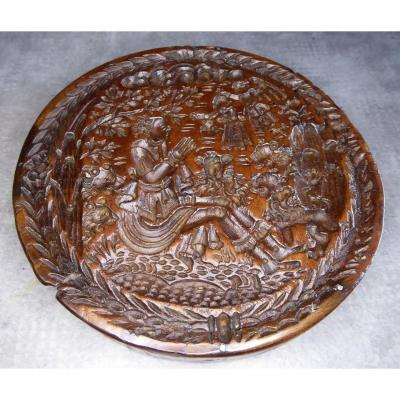 Museum: 17th Century, Carved Wood Mold : Daniel And The Lions,