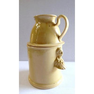 Apt, 18th Century, Fine Yellow Earthenware Night Creamer, Beautiful Condition