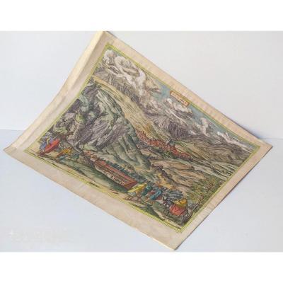 Les Sources Chaudes d'Alhama, Braun- 1564, Coloris d'époque!