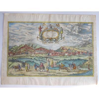 Panorama De Grenade, Braun- 1563, Period Colors!