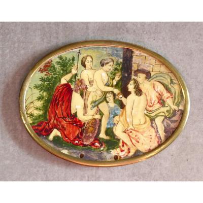 Judgment Of Paris: 17th Century Miniature For Snuffbox, Primitive