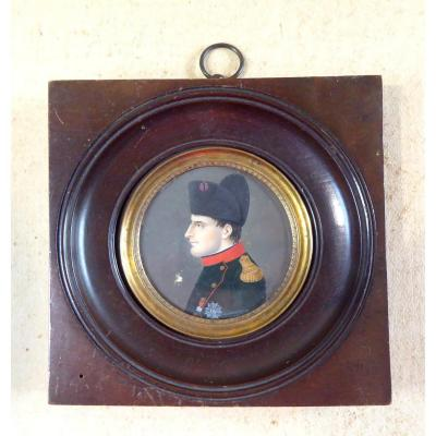 Miniature Of Napoleon, Young, In General's Uniform, Circa 1805