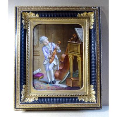 Little Mozart Child, Painted On Porcelain, 1884.