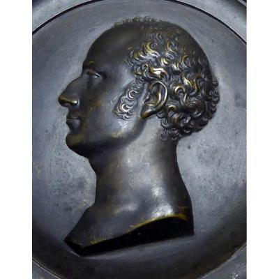 Bronze Profile, Circa 1818, Of Prince Of Wales, Future Georges Iv