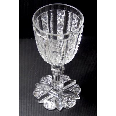 Baccarat, Extremely Cut, Large Stemmed Glass, 18cm