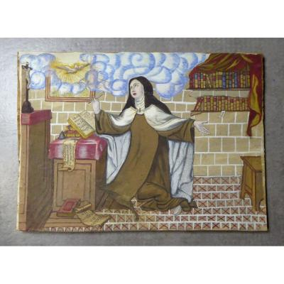 Découpé-collé-gouaché, Ancien Travail De Couvent, Ste Thérèse