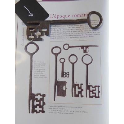 Musée: Longue Clé Romane Forgée, Du XIIe Siècle, 17,5cm