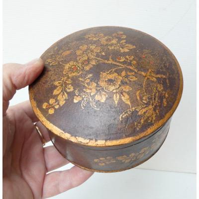 Boîte à Poudre De Perruque, Bois Peint, époque Louis XV