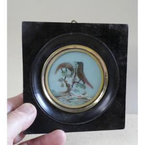 Miniature Naïve Emplumée, époque Directoire.