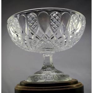 Coupe Cristal Spectaculaire, 1830, Chef D'œuvre De Taille, 3kilos, Bon état