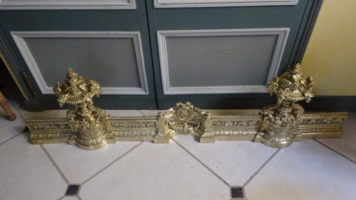 Importante Galerie De Cheminée en bronze ciselé d'époque Napoléon III-photo-1