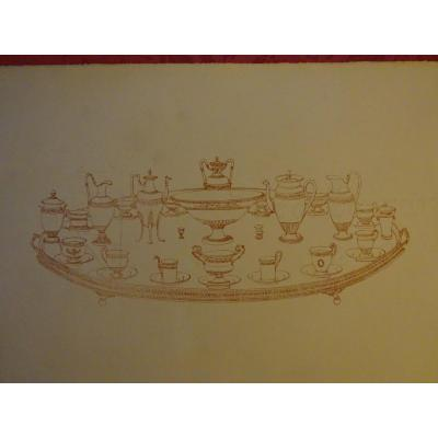 Collection Of A Set Of 50 Engravings Empire Style Goldsmith's Pieces 1900