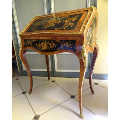 Office Slope Or Donkey In Marquetry, Napoleon III Period