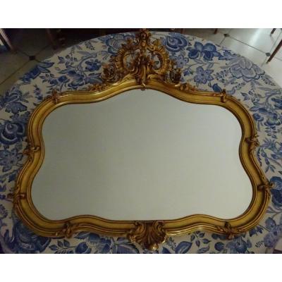 Miroir De Style Rocaille Fin XIXème