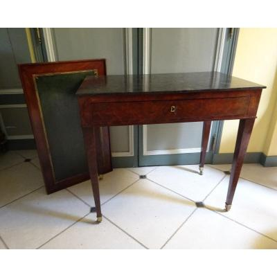 Small Serving Table Forming Writing Desk And Game Table From Directoire Period