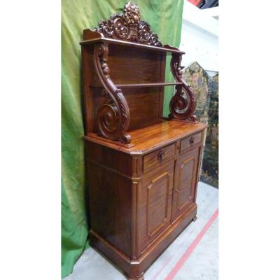 Small Buffet With Credenza In Mahogany From The XIXth Century
