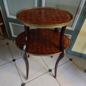 Late Nineteenth Marquetry Tea Table