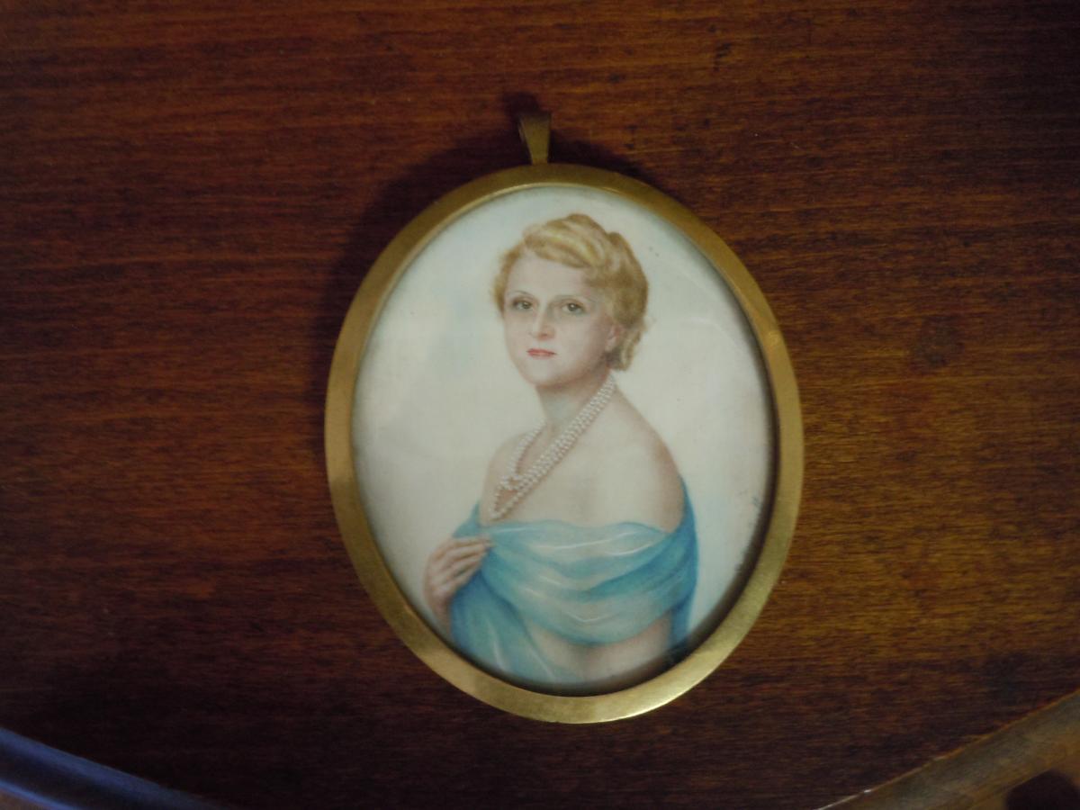Miniature Par Le  Baron Theophile Meyendorff