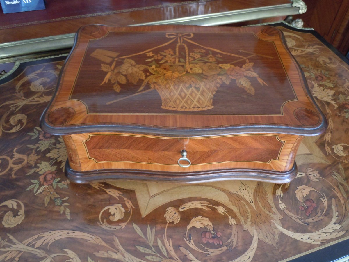 Marquetry Box Late 19th