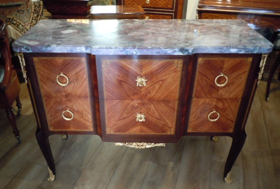 Commode Style Transition Estampillee Rinck