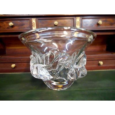 Vase En Cristal Daum France