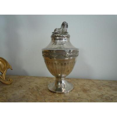 Covered Jar In Sterling Silver Germany 17th