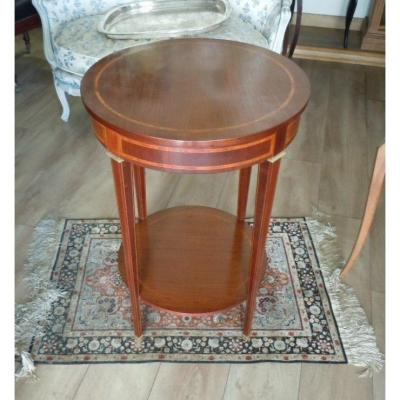 Table Gueridon En Acajou Style Directoire