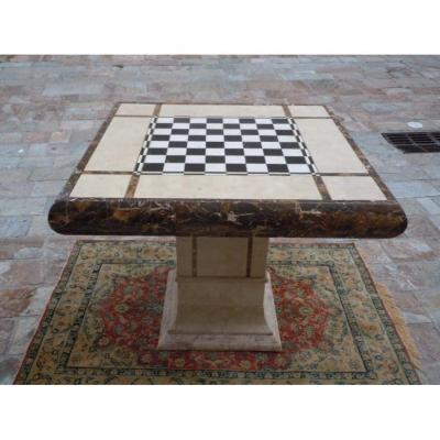 Table Jeu D Echec En Marbre