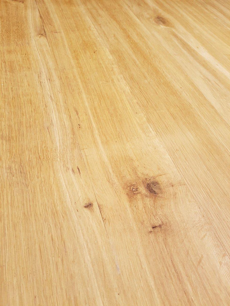 Table En Chêne Et En Fer Forgé (225cm/270cm X 97cm).-photo-7