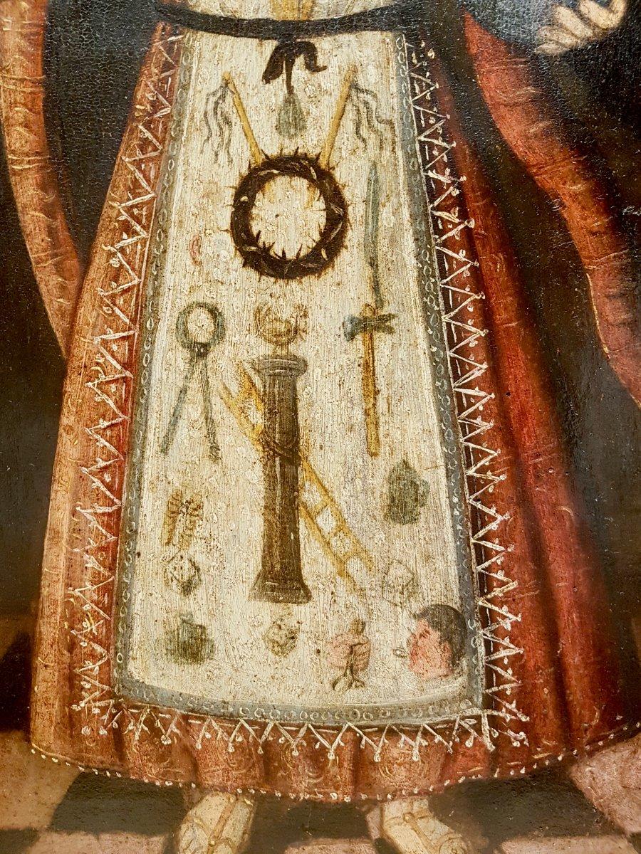 Rare Tableau Du Christ Enfant, Huile Sur Panneau XVIIe Siècle.-photo-1