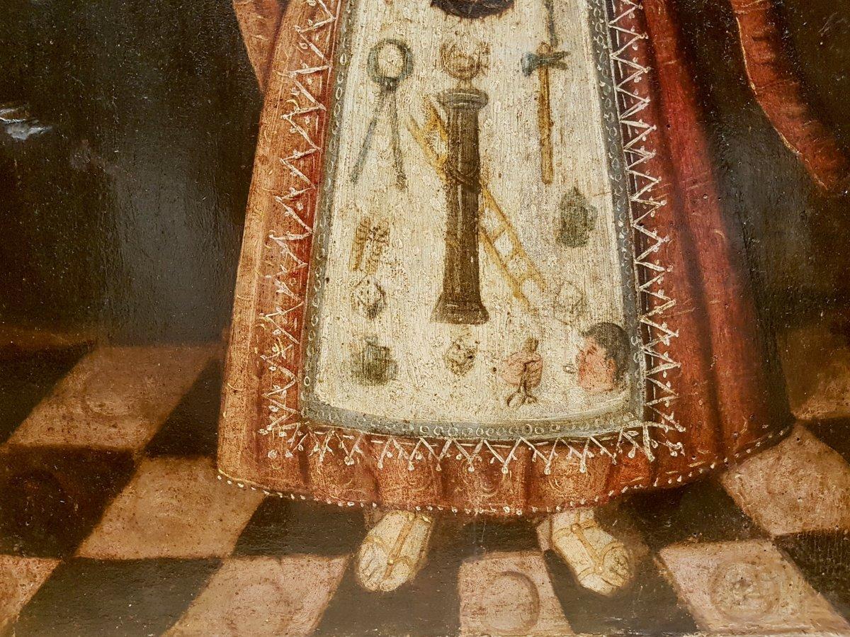 Rare Tableau Du Christ Enfant, Huile Sur Panneau XVIIe Siècle.-photo-6