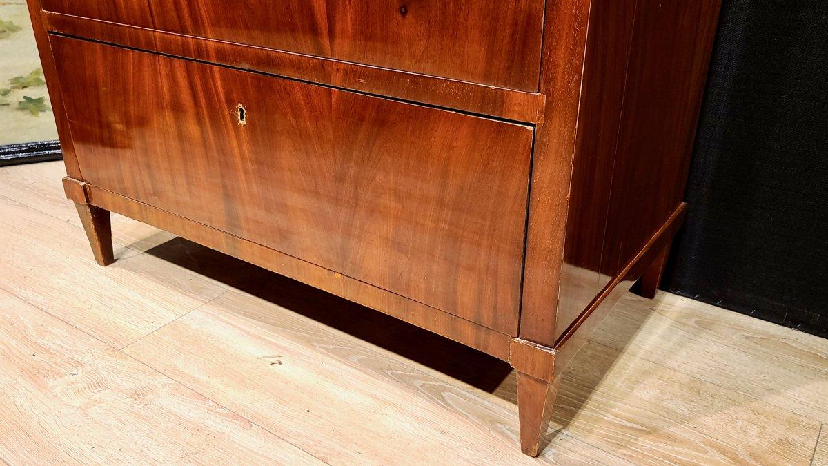 Cabinet Chiffonnier En Acajou, Époque Biedermeier Vers 1820. (188cm X 94cm).-photo-3