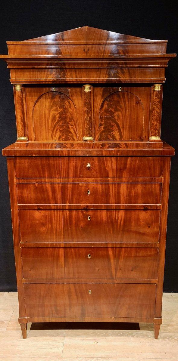 Cabinet Chiffonnier En Acajou, Époque Biedermeier Vers 1820. (188cm X 94cm).