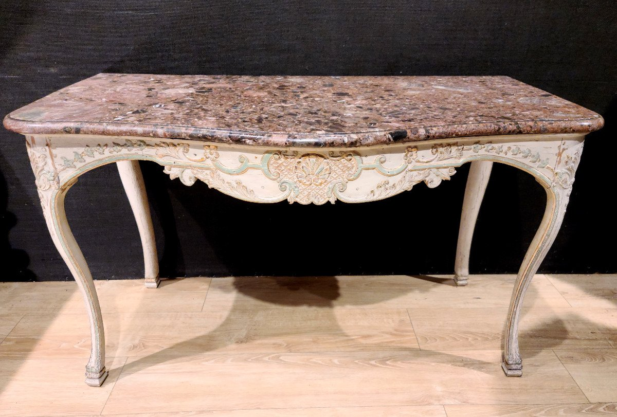 Lacquered Wood Game Table, Regency Period Console, Eighteenth.