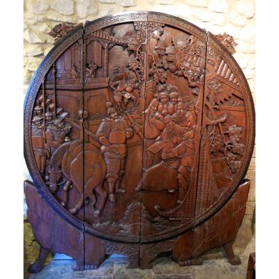 Screen Chinese Carved, XIX End Debut XX (x 1,68cm 1,89m)