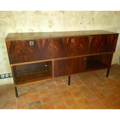 Buffet Sideboard In Rosewood, 1960. (1m80)