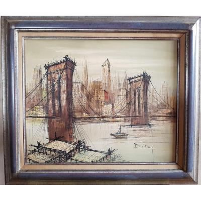 Table Brooklyn Bridge, Suzanne Duchamp (79cm X 68cm)